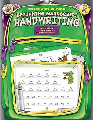 Homework Helper Beginning Manuscript Handwriting, Grade K By Frank Schaffer Publications (COR)